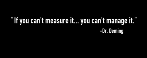 If you can't measure it, you can't manage it